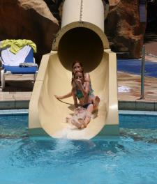 Pool slides at Club Hotel Eilat