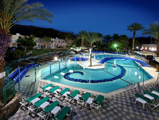 Club Inn Eilat  - Pool at night