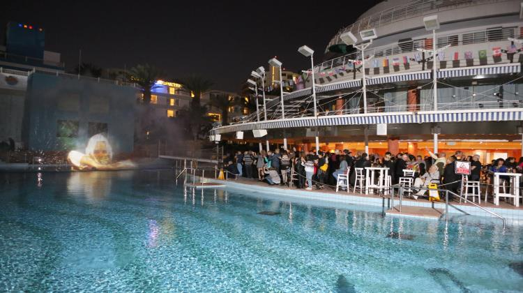 Water screen show, Club Hotel Eilat